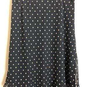 George Black Polka Dot Skirt